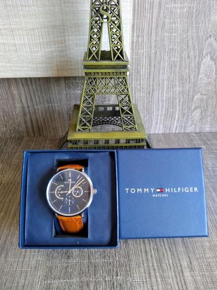 Relógio Tommy Hilfiger Pulseira De Couro - Novo E Original