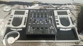 Par Cdj 100 Pionner Com Mixer Beringher Ddm4000 No Case