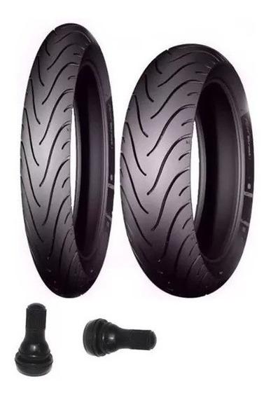 Par De Pneus Michelin Honda Biz 125 E Pop 100 Balão E Bicos