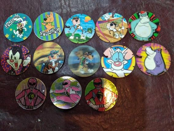 Lote De 13 Tazos. Power Rangers, Cartoon Network,arma Tazos.