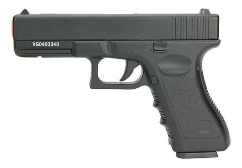 Imagem 1 de 3 de Pistola De Airsoft Full Metal Glock Vg Gk-v20 Spring 6mm
