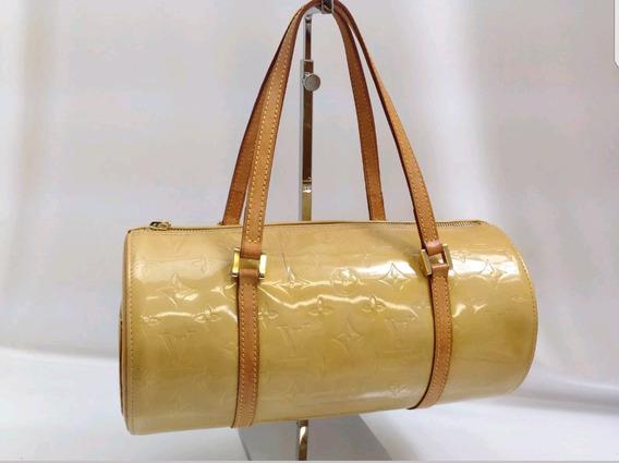 Bolsa Louis Vuitton Verniz Bedford De Mão Amarelo Brilhante