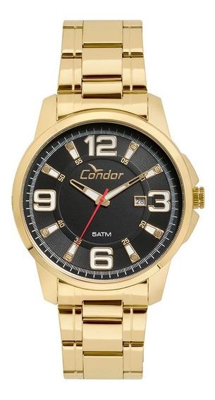 Relógio Masculino Condor Dourado Co2115ktj/4c