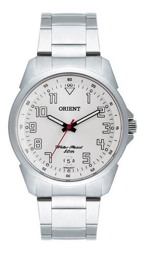 Imagem 1 de 8 de Relógio Orient Prata Masculino Mbss1154a S2sx Aço Analógico