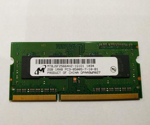 Memória Ram 2gb Ddr3 1rx8 - Pc3 - 10600s