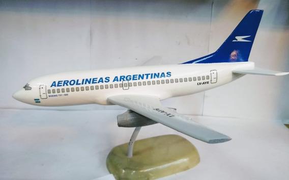 Aviones De Resina Boeing 737 500 Aerolineas Arg Con Pie
