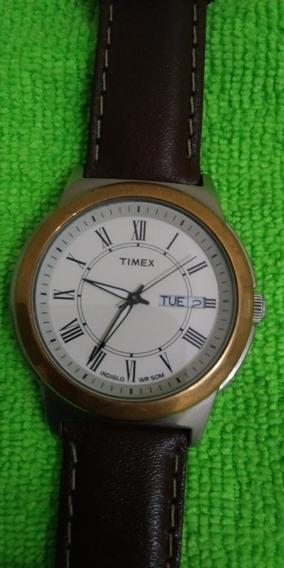 Relógio Timex Analógico Calendário Duplo Social , Indiglo