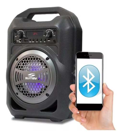 Caixa De Som Gallon Bluetooth Portátil Cinza Sumay Sm-csp130