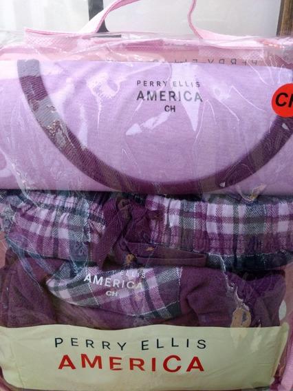 Pijama Para Dama 3 Piezas Perry Ellis América Woman