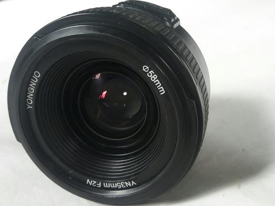 Objetiva Pra Câmera Nikon Ongnuo Yn 35 Mm F2n
