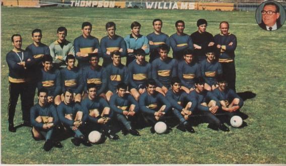 Antigua Tarjeta Postal Equipo * Boca Juniors * Año 1969