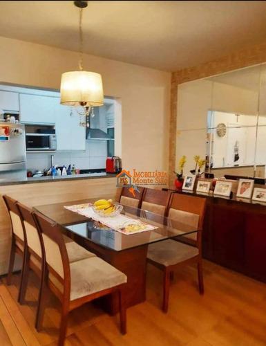 Apartamento Com 3 Dormitórios À Venda, 78 M² Por R$ 583.000,00 - Vila Augusta - Guarulhos/sp - Ap2460