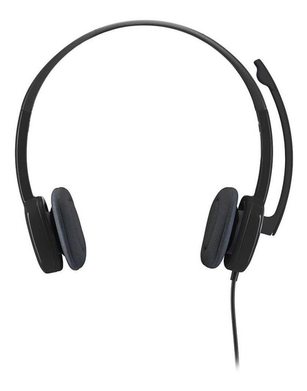 Headset Logitech Estereo Analogico P3 H151 - Preto