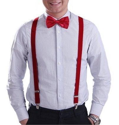 Tirantes Y Moño Elegante Caballero Hombre Moda Oferta Envio