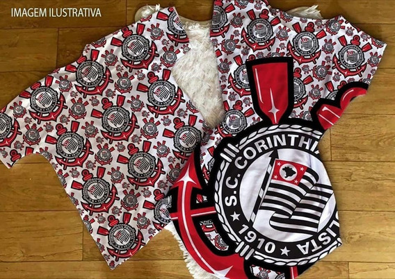 Kit Casal Estampa De Time Vestido+camiseta Cod08