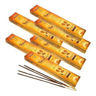 6 Cajas Incienso Natural Yatra Parimal 90 Varas Aroma Suave