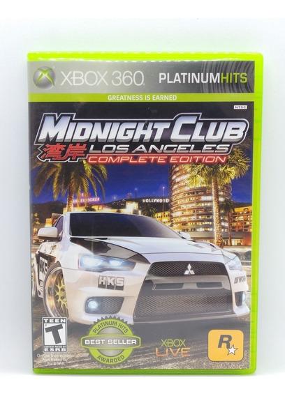 Midnight Club Los Angeles Complete Xbox 360 Midia Fisica
