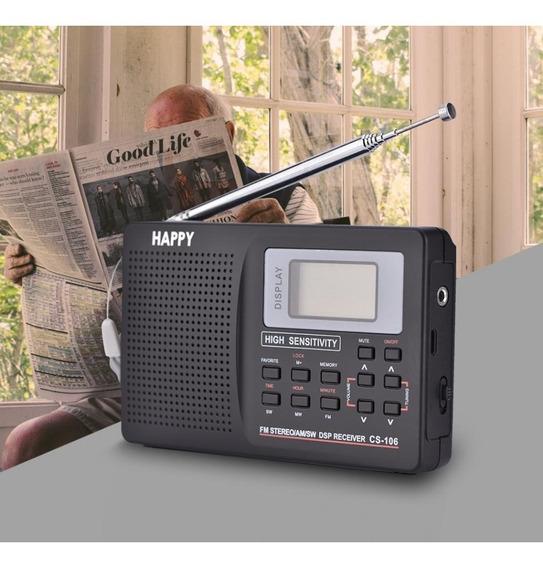 Radio Portátil Digital Dsp Ondas Curtas Nao Degen Tecsun Fm