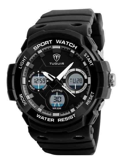 Relógio Masculino Tuguir Anadigi Tg1247 - Preto