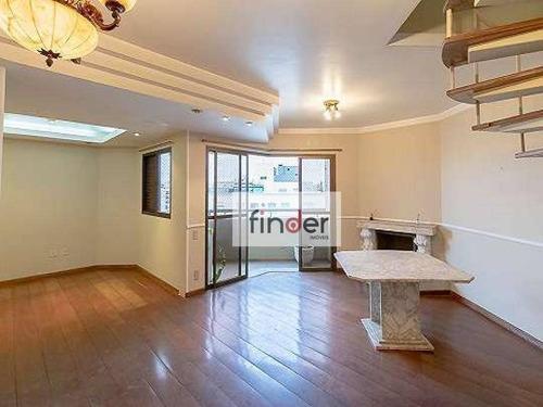 Cobertura Duplex Com Vista Totalmente Face Norte, 270 M², 4 Dormitórios E 3 Vagas. Edifício Santa Margherita - Co0563