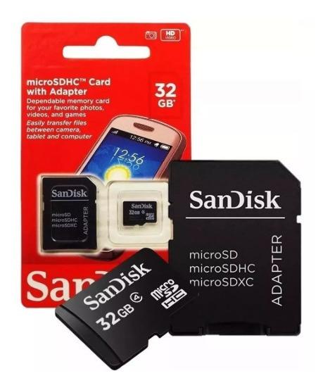 Cartão Micro Sd 32gb Sandisk Lacrado + Adaptador