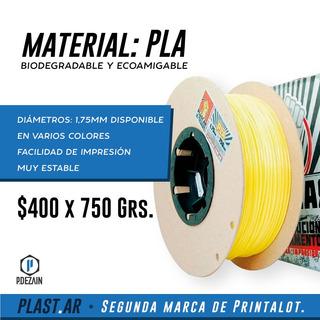Tucuman Filamento Pla Impresora 3d Plast.ar 1.75mm