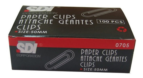 Paper Clips Sdi 50mm X 100 U.