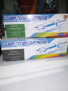 2 Cartuchos P/ Impresora Laser Hp 435a - Alternativos 2 Unid