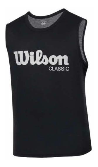 Playera Wilson Negra Caballero 1429411 Original Ven.nom