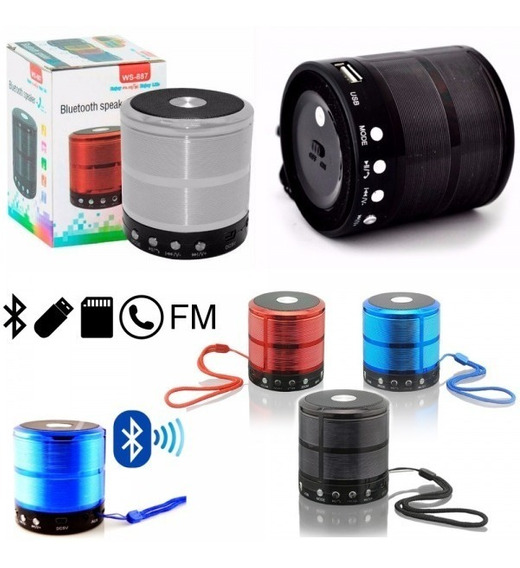 Mini Caixinha Som Portátil Bluetooth Mp3 Fm Sd Usb Hi