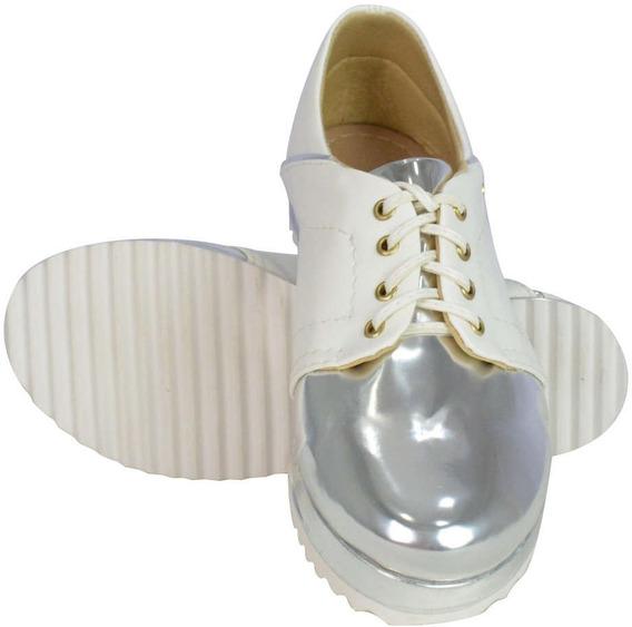 Sapato Branco Prateado - Oferta