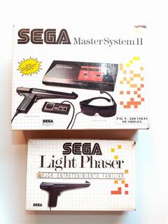 Sega Master Sytem Completo + Pistola Completo + 4 Juegos