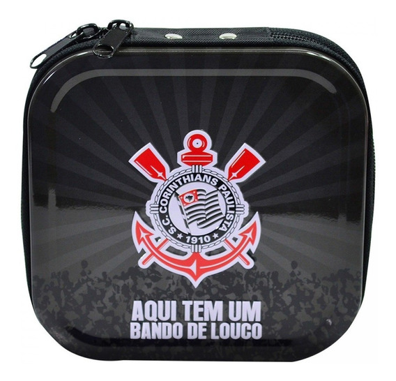 Porta Cd Corinthians Em Metal Para 24 Cds Dvds - Licenciado