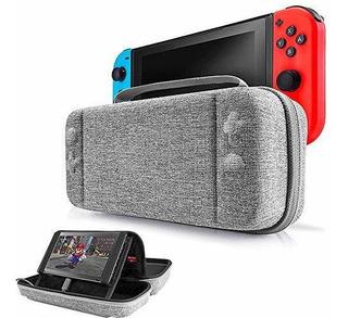 Funda Para Nintendo Switch, 12 Juegos Gris