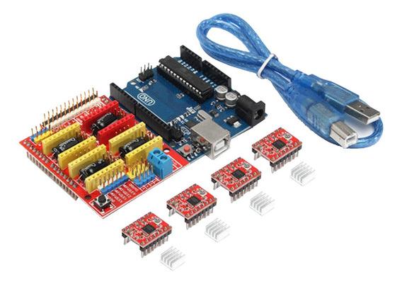 Kit Controlador De Impressora 3d Para Arduino Mega 2560 R3+c