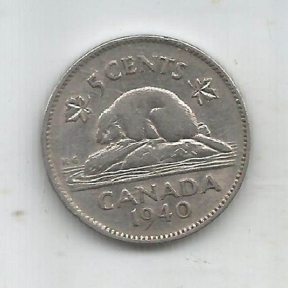 M 10320 Canada Moneda 5 Centavos 1940