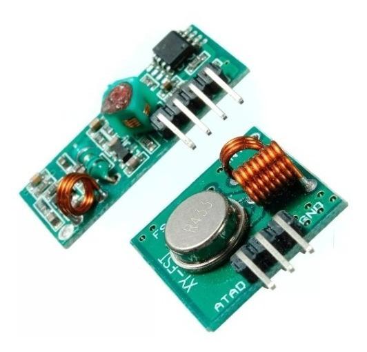 Par De Módulos Rf 433mhz, Transmissor + Receptor