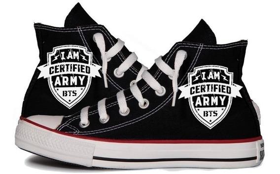 All Star Bts Army Bangatan Boys Tênis Personalizado Kpop