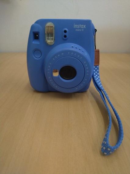 Fujifilm Instax Mini 9 - Azul Cobalto - Pouco Usada