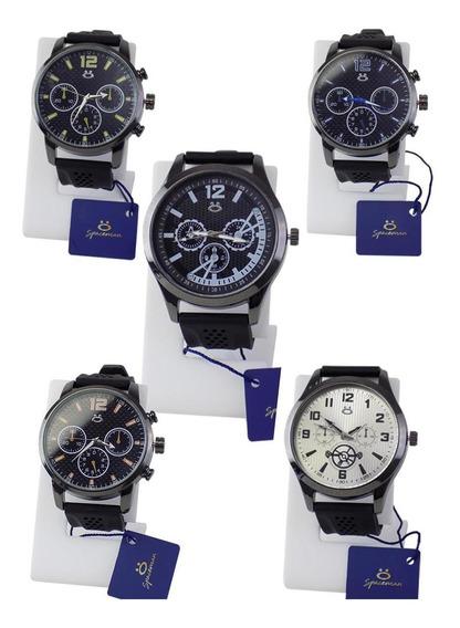 Kit Com 5 Relógios Masculino Originais Revenda Atacado