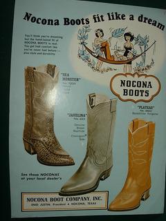 Cowboys Clipping Publicidad Western Botas Texanas Nocona