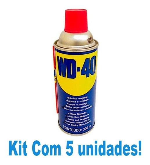 Kit Para Limpar Lubrifica Cordas De Guitarra 5 Spray Wd-40