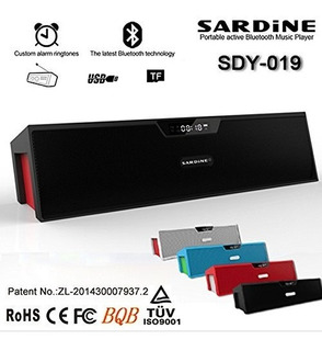 Parlante Bluetooth Sardine Sdy-019 Fm Radio Alarma Usb 10w