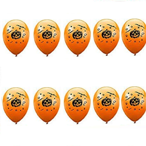 Set Globos Halloween Latex R12 Docena