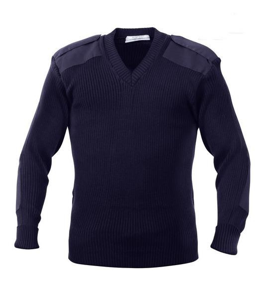 Suéter Nuevo Tipo Militar Cuello En V