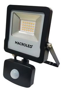 Reflector Led 50w C/sensor Movimiento 3000k Calido Macroled