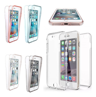 Capa Case Protecao Tela Inteira 360 iPhone 6 6g Transparente
