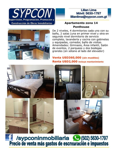 Penthouse Zona 14 Amueblado