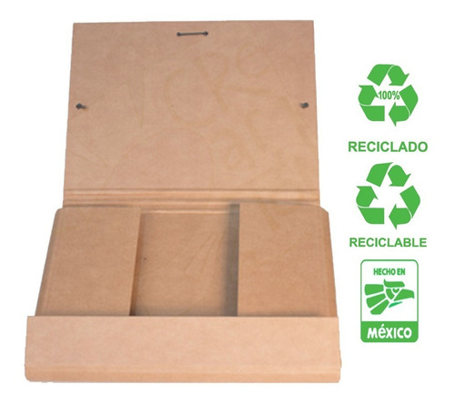 Carpeta Porta Documentos Rigida Reciclada 1 Pieza Ecologico