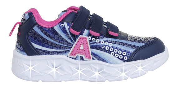 Zapatillas Addnice Moda Starlight Abrojo Niña Mn/la